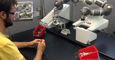 Il robot collaborativo Yumi al Polimi