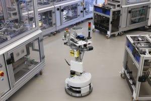 Esempio di 5G nella smart factory con un controllo della qualità ottica in termini di sicurezza modulare