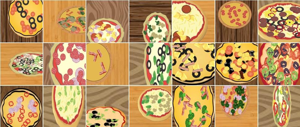 Set pizze sintetiche